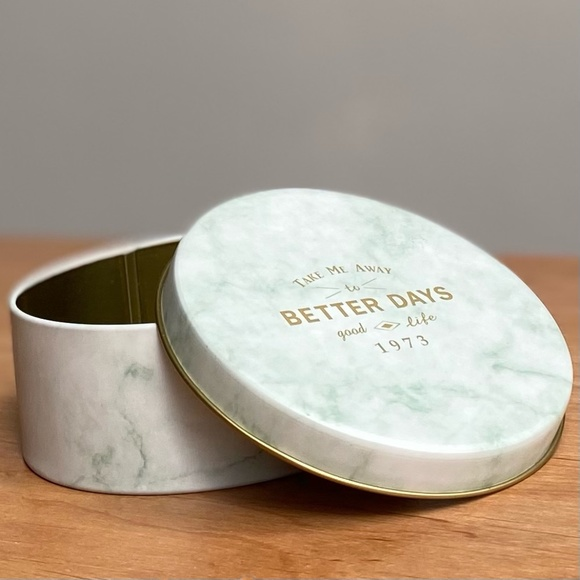 3/$25💥 NWT Marble Tin Canister Container Storage